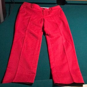 Banana Republic Size 8 Dress Pants Red Camden NWOT